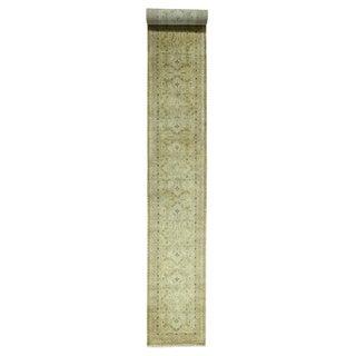1800GetaRug Tabriz Super-dense Wool Weave 300-Kpsi Runner Rug (3' x 23'4)