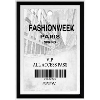 "BY Jodi ""Fashion Week Paris"" Framed Plexiglass Wall Art"