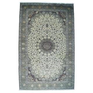 1800GetaRug Oversize Persian Multicolored Kashan Silk Flowers Sheikh Safi Rug (16'5 x 26)