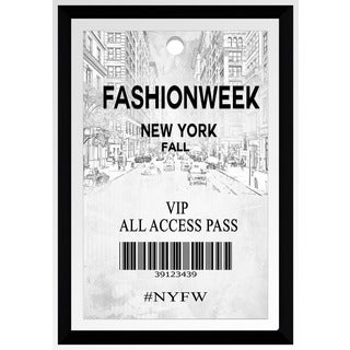 "BY Jodi ""Fashion Week Pass Nyc"" Framed Plexiglass Wall Art"