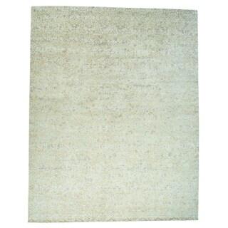 1800GetaRug Modern Nepali Wool and Silk Damask Design Oversize Rug (14'6 x 18'5)
