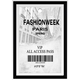 "BY Jodi ""Fashionweek Pass Paris"" Framed Plexiglass Wall Art"