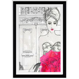 "BY Jodi ""First Date A"" Framed Plexiglass Wall Art"