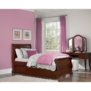 WALNUT STREET TWIN RILEY SLEIGH BED with Trundle CHESTNUT