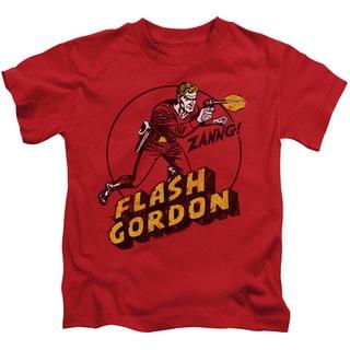 Flash Gordon/Zang Short Sleeve Juvenile Graphic T-Shirt in Red