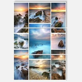 Sea and Shore Collage - Seascape Photo Metal Wall At - 36Wx28H