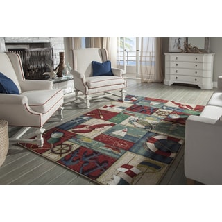 Mohawk Home Escape N Is For Nautical Multi Area Rug (7'6 x 10')