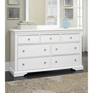 WALNUT STREET 7 DRAWER DRESSER WHITE