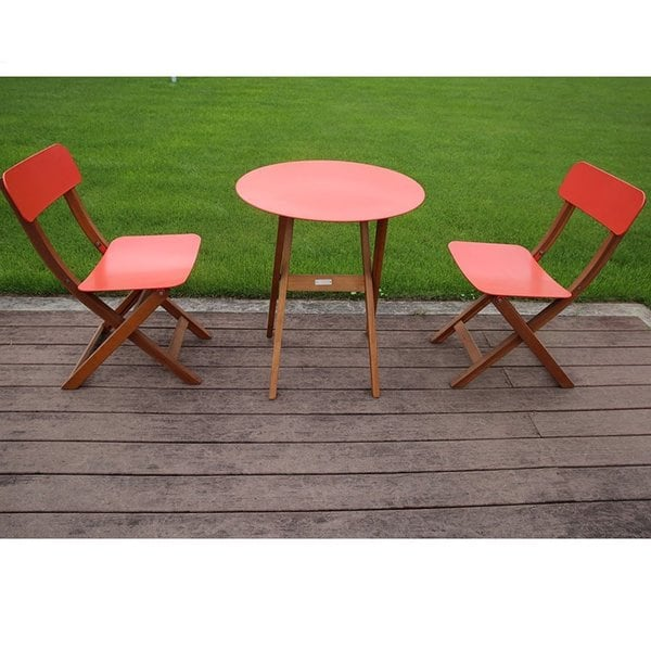 Shop Abba Patio 3 Piece Folding Bistro Set Outdoor