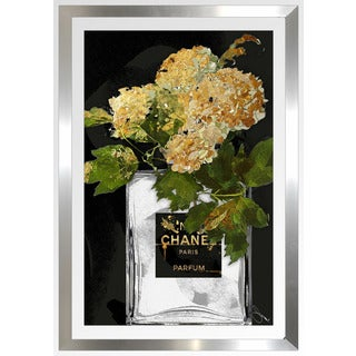 "BY Jodi ""Gold Flowers 1"" Framed Plexiglass Wall Art"