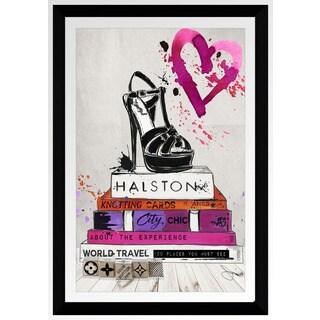 """BY Jodi """"Halston"""" Framed Plexiglass Wall Art - Pink"""