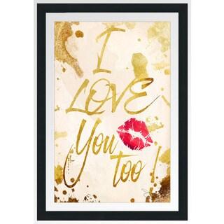 "BY Jodi ""I Love You Too"" Framed Plexiglass Wall Art"
