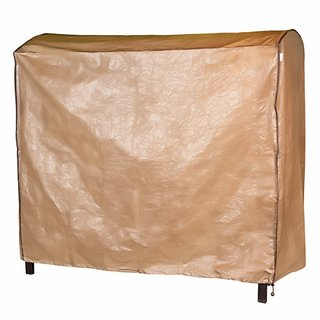 Abba Patio Brown Polyethylene Outdoor Patio Cover for 3-seat Canopy Porch Swing Hammock