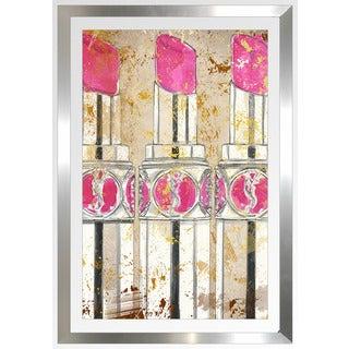 "BY Jodi ""Kiss And Makeup"" Framed Plexiglass Wall Art"