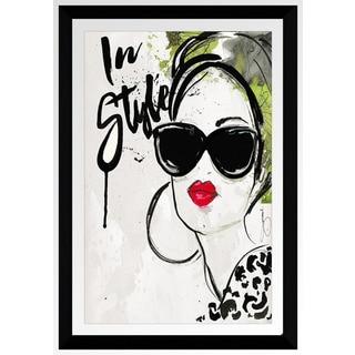 """BY Jodi """"In Style"""" Framed Plexiglass Wall Art"""
