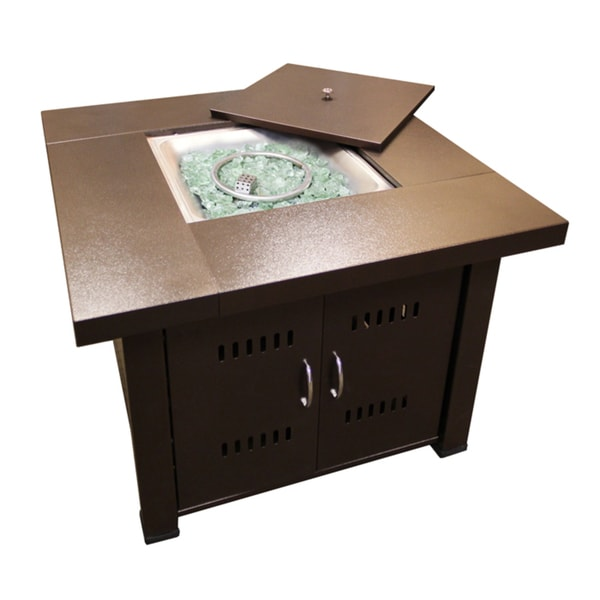 Hiland GS-F-PC Brown Hammered Bronze Fire Pit