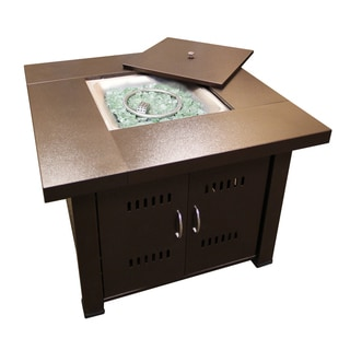 Hiland GS-F-PC Brown Hammered-bronze Fire Pit