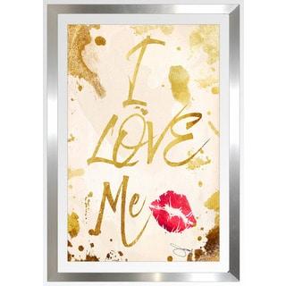 "BY Jodi ""Love Me"" Framed Plexiglass Wall Art"