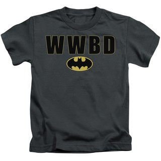 Batman/Wwbd Logo Short Sleeve Juvenile Graphic T-Shirt in Charcoal