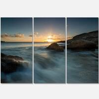 Sydney Seashore at Sunset - Seashore Metal Wall At - 36Wx28H