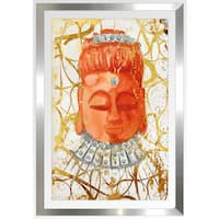 "BY Jodi ""Namasta Here In Gold"" Framed Plexiglass Wall Art"