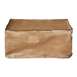 Abba Brown Polyester/Polyethylene Rectangular Table Cover