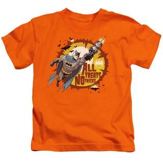 Batman/All Treats Short Sleeve Juvenile Graphic T-Shirt in Orange