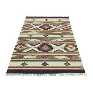 Handmade Anatolian Durie Kilim Wool Flatweave Rug (3'x5')