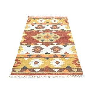 Multicolored Wool Handwoven Anatolian Durie Kilim Flatweave Rug (2'9x5')