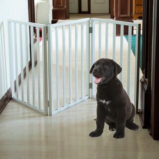 Freestanding Wooden Pet Gate by PETMAKER