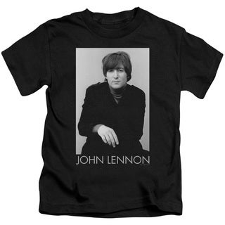 John Lennon/Ex Beatle Short Sleeve Juvenile Graphic T-Shirt in Black