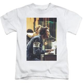 John Lennon/Peace Short Sleeve Juvenile Graphic T-Shirt in White