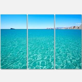 Blue Benidorm Levante Beach - Seashore Metal Wall At - 36Wx28H