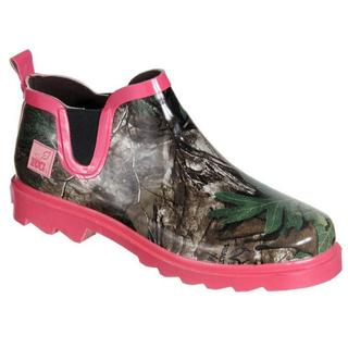 Realtree Girl Women's Ms. Gi Gi Green/Pink/Camo Rain Boots