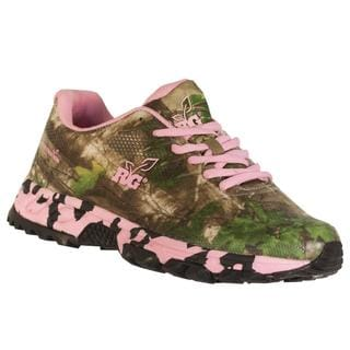 Realtree Outfitters Women's Mamba Pink and Green Camo Canvas Hiking Shoes