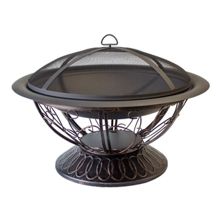 Hiland FT-022 Wood-burning Fire Pit with Scroll Design