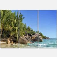 Anse Lazio Praslin Island Seychelles - Large Seashore Metal Wall At - 36Wx28H
