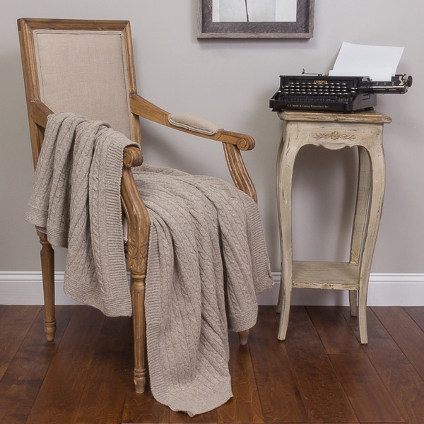 Kimberly Taupe Cotton Throw
