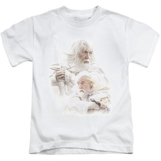 LOTR/Gandalf The White Short Sleeve Juvenile Graphic T-Shirt in White