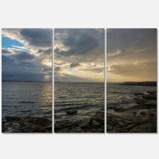 Cloudy Australian Seashore in Sydney - Large Seashore Metal Wall At - 36Wx28H
