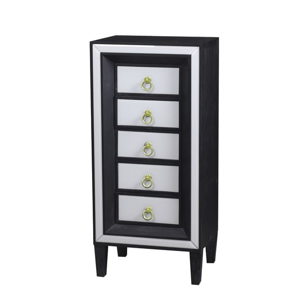 Shop Beverly 5 Drawer Tall Lingerie Chest Free Shipping