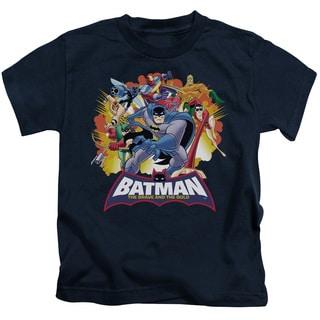 Batman Bb/Explosive Heroes Short Sleeve Juvenile Graphic T-Shirt in Navy