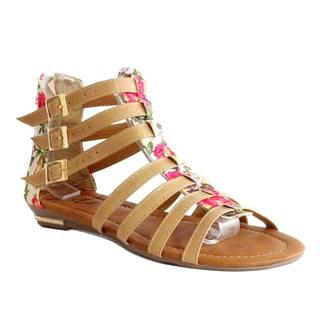 Enriko Women's 'Rosa' Buckle Strap Flat Sandals