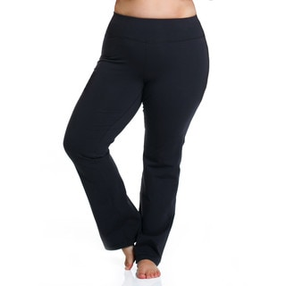 Rainbeau Curves Curve Basix Women's Black Cotton/Spandex Pants