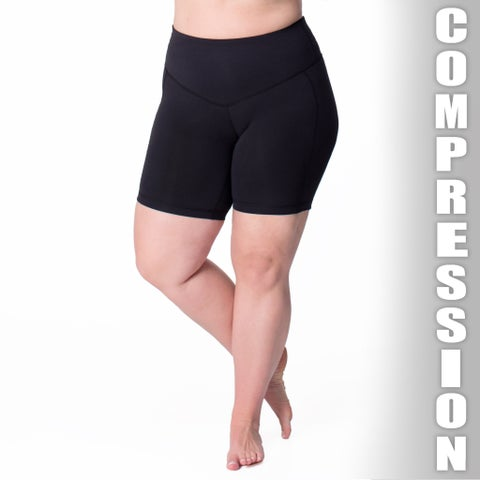 Rainbeau Curves Curve Basix Power-stretch Mesh Lining Compression Shorts
