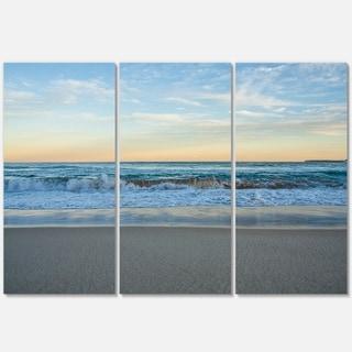 Blue Splashing Scene Beach - Large Seashore Metal Wall At - 36Wx28H