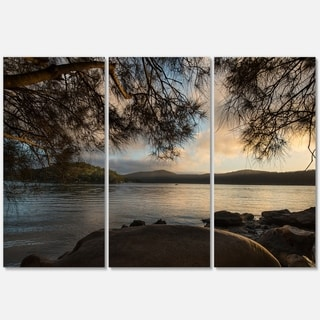 Sunrise from Hawsbury River - Large Seashore Metal Wall At - 36Wx28H