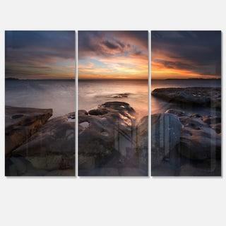 Dark La Perouse Beach in Sydney - Large Seashore Metal Wall At - 36Wx28H
