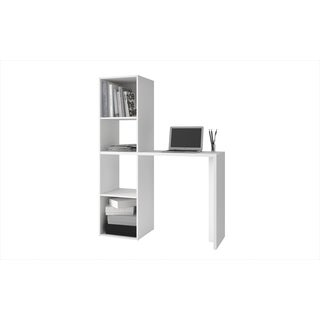 Accentuations by Manhattan White 4-shelf Comfort Campania Cubby Desk