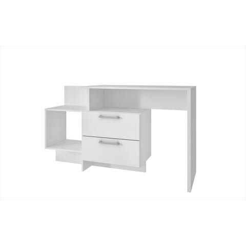 Accentuations by Manhattan Comfort Teramo White Wood/Melamine 1-shelf Home Desk